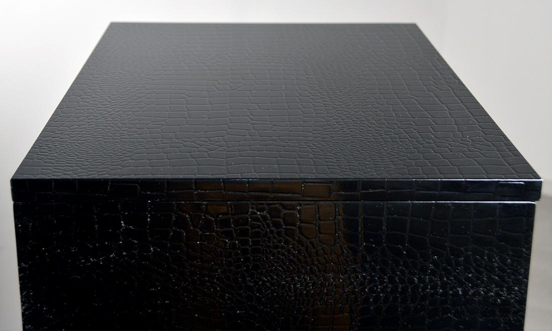 Мередиан Стул металлический мередиан, хромированный каркас, кожзам, чёрный, 53x42x92 см,~(Q01JV9Z)
