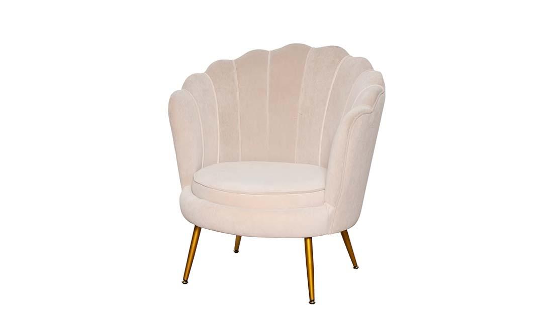 Кресло Шелл бежевый